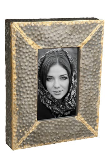 Foreside Hammered Metal Picture Frame