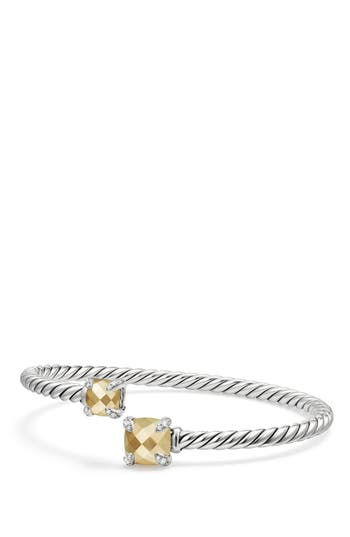 Women's David Yurman Chatelaine Bypass Bracelet With Diamonds