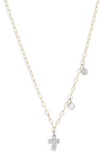 Women's Meira T Diamond Cross Pendant Necklace
