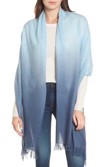 Women's Caslon Dip Dye Cashmere Wrap, Size One Size - Blue