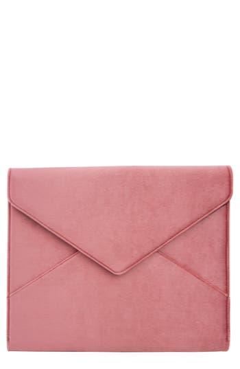 Sonix Rose Velvet Laptop Clutch - Pink