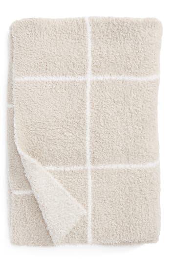 Barefoot Dreams Cozychic Windowpane Plaid Throw Blanket, Size One Size - Beige