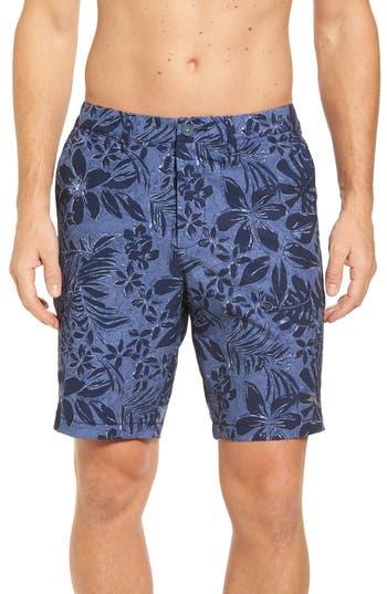 Big & Tall Tommy Bahama Cayman Camo Safari Hybrid Shorts, Blue