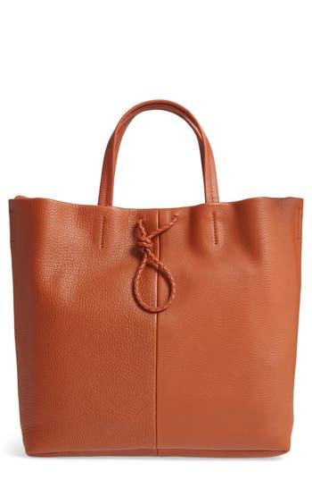 Shinola Latigo Square Pebbled Leather Shopper Tote - Brown