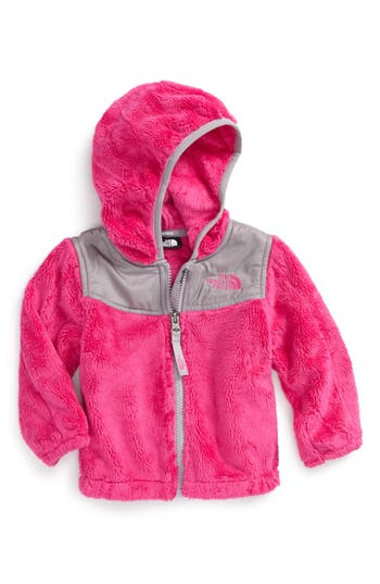 Infant Girl's The North Face 'Oso' Fleece Hooded Jacket