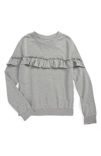 Girl's Hudson Kids Ruffle Sweatshirt