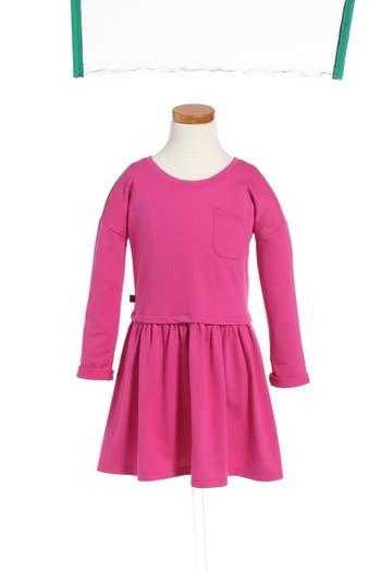 Girl's Tea Collection Solid Pocket Dress