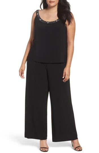 1920s Style Dresses, Flapper Dresses Plus Size Womens Alex Evenings Embellished Three-Piece Pant Suit $249.00 AT vintagedancer.com