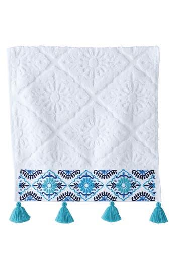 John Robshaw Aloka Wash Cloth, Size One Size - Blue