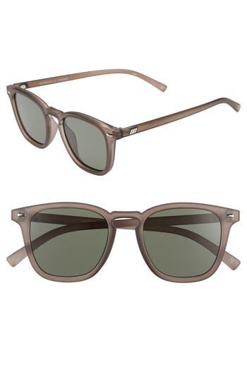 Women's Le Specs No Biggie 45Mm Polarized Sunglasses - Slate Rubber