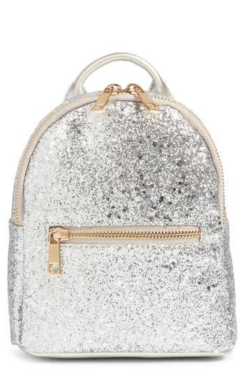 Mali + Lili Glitter Vegan Leather Backpack - Metallic