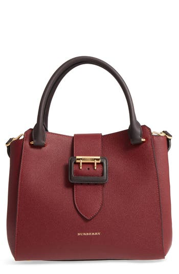 Burberry Medium Calfskin Leather Tote -
