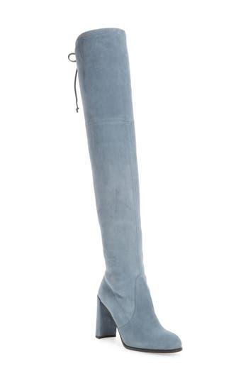 Stuart Weitzman Hiline Over The Knee Boot, Blue