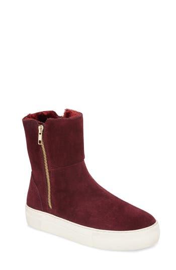 Women's Jslides Allie Faux Fur Lined Platform Boot, Size 8.5 M - Burgundy