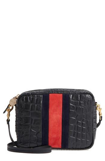 Clare V. Midi Sac Leather Crossbody Bag - Black