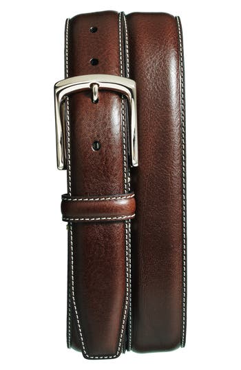Big & Tall Torino Belts Burnished Leather Belt, Brown