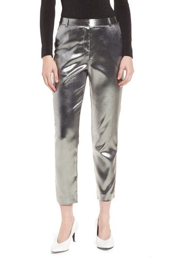 Women's Topshop Metallic Suit Trousers