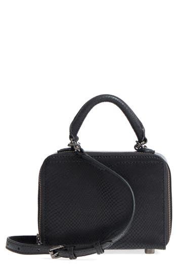 Rebecca Minkoff Box Metallic Leather Crossbody Bag -