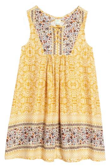Girl's O'Neill Thalia Tank Dress, Size Small - Yellow