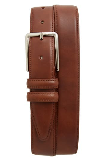 Big & Tall Nordstrom Shop Mercer Leather Belt, Cognac