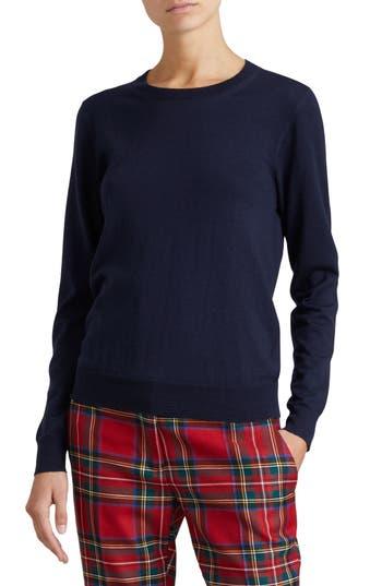 Burberry Viar Merino Wool Sweater, Blue
