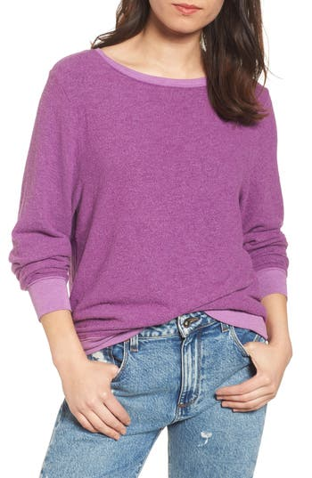 Women's Wildfox 'Baggy Beach Jumper' Pullover, Size XX-Small - Purple