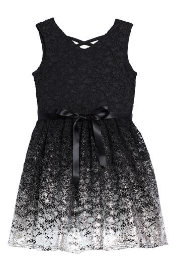Girl's Blush By Us Angels Sleeveless Lace Dress