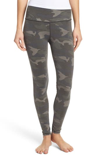 Ragdoll Camo Lounge Leggings, Green