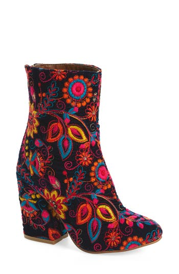 Retro Boots, Granny Boots, 70s Boots Womens Naughty Monkey Power Bootie $129.95 AT vintagedancer.com