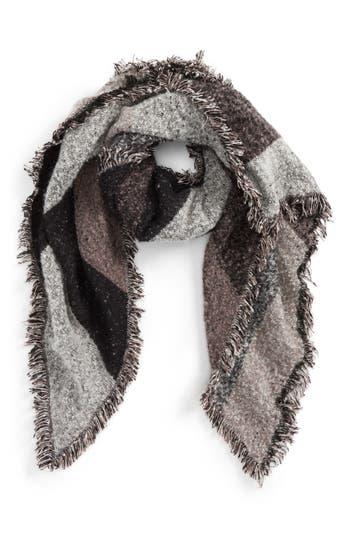 Women's Emanuel Geraldo Geometric Print Blanket Scarf, Size One Size - Grey