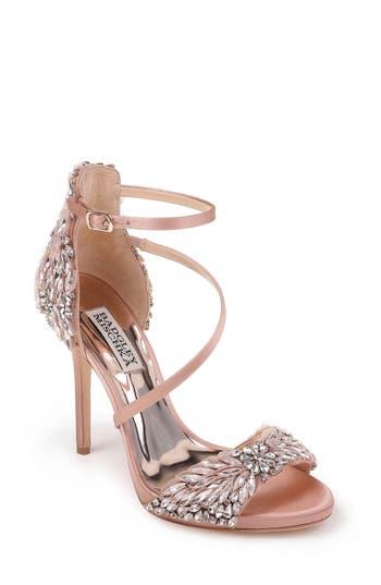 Women's Badgley Mischka Selena Strappy Sandal, Size 9 M - Pink