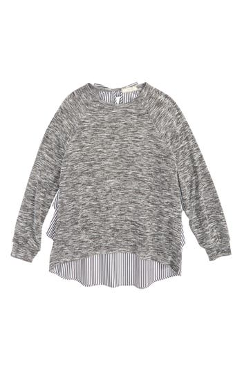 Girl's Soprano Ruffle Back Top, Size S (8-10) - Grey