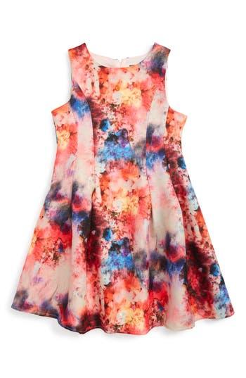 Girl's Dorissa Brynmar Floral Print Dress, Size 12 - Pink