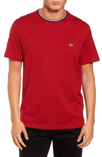Men's Lacoste Semi Fancy Ringer T-Shirt, Size 3(s) - White