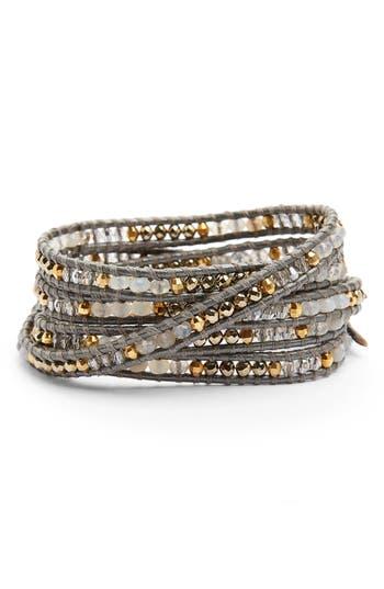Women's Chan Luu Semiprecious Stone Leather Wrap Bracelet