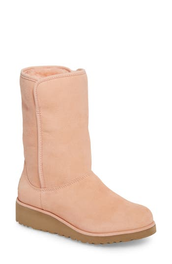 Ugg Amie - Classic Slim(TM) Water Resistant Short Boot- Coral