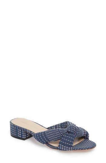 Women's Loeffler Randall Elsie Knotted Slide Sandal, Size 8 M - Blue