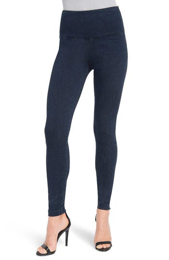 Lysse High Waist Denim Leggings, Blue