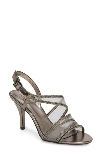 Adrianna Papell Adelphi Asymmetrical Mesh Sandal, Metallic