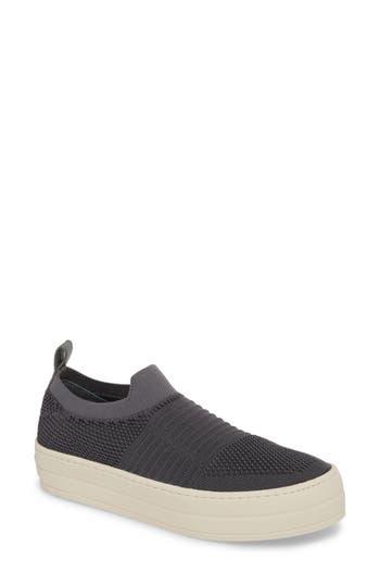 Jslides Hilo Platform Slip-On Sneaker, Grey