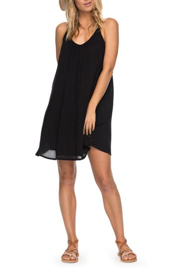 Roxy Great Intentions Trapeze Dress, Grey