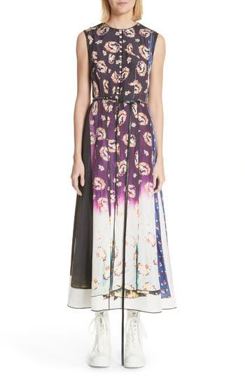 Marc Jacobs Floral Degrade Photo Print Dress, Black