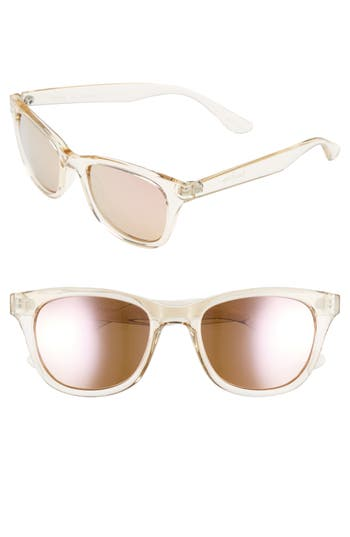 Lilly Pulitzer Maddie 52Mm Polarized Mirrored Sunglasses - Crystal Gold/ Pink