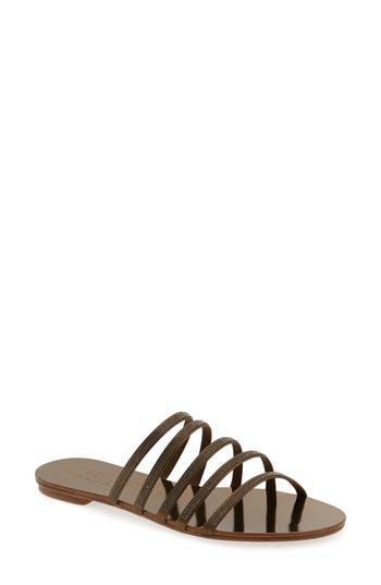 Women's Pedro Garcia Sarah Crystal Embellished Sandal, Size 7US / 37EU - Metallic