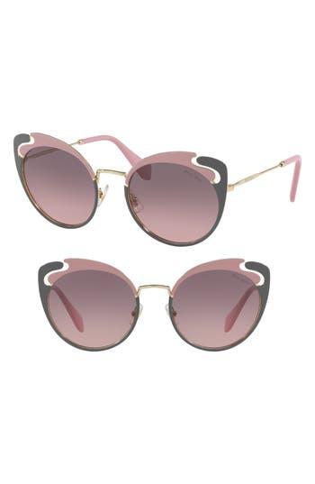 Miu Miu Noir Evolution 5m Cat Eye Sunglasses - Gold/ Pink Gradient