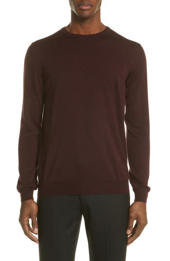 Lanvin Wool Crewneck Sweater, Red