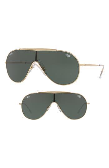 Ray-Ban 13m Shield Sunglasses - Gold Solid