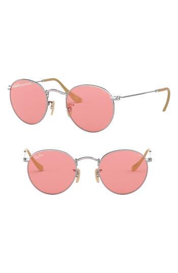 Ray-Ban 50Mm Retro Inspired Round Metal Sunglasses - Pink