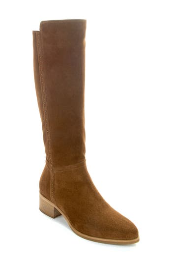 Italeau Fiamma Water Resistant Knee High Boot, Brown