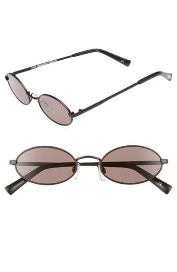 Le Specs Love Train 51Mm Oval Sunglasses - Matte Black